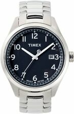 Timex Watch T-Series 3 Pointer (Stainless Steel Wrist Silver Face Black) t2m461