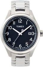 TIMEX Uhr T-SERIES 3 ZEIGER (Edelstahlarmband Silber Zifferblatt Schwarz) T2M461