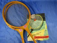 Federballschläger Gebirgsperle DDR Spezial Tennisschläger Holz vintage +Spielreg