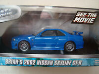 BRIAN S 2002 NISSAN SKYLINE GT R   Film FAST AND FURIOUS 4 1/43 greenlight