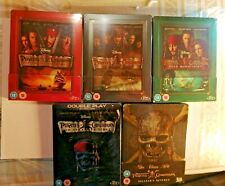 Disney Pirates of the Caribbean Blu ray Steelbook Collection Rare New Sealed