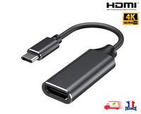 Adaptateur USB Type C vers HDMI 4K 30Hz femelle Câble vidéo Convertisseur