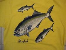 Vintage Jordan Hospital Bluefish Tournament Souvenir Yellow T Shirt S