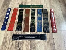 More details for collection of vintage bookmarks leather. top condition great mix x10 see pics
