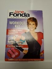 Jane Fonda Prime Time Workout Kit - Includes 2 Dvd's + Hand Weights - Nib
