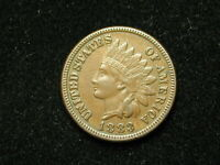 NEW INVENTORY!!  AU 1883 INDIAN HEAD CENT PENNY w/ FULL LIBERTY & DIAMONDS #139s