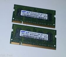 2 x Samsung 1GB Laptop Notebook RAM Memory M470T2864QH3-CF7 2RX16 PC2-6400S