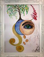 Margarita Bonke Malerei PAINTING WOMEN art abstract abstrakt sürrealismus psy A3