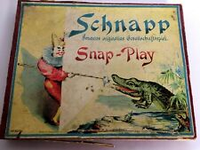 Snap Play Card Round Family Game Heimchen Spiell Schnapp Germany Antique 1905