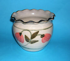 JN Studio Pottery Devon -Attractive Floral Design Planter (Fully Marked on Base)