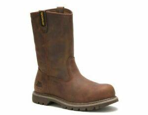 CAT Caterpillar P90418 Women's Revolver Steel Toe Dark Beige EH Work Boots Shoes