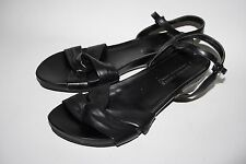 Laura Conte Fashion Designer Ladies Woman's Sandals Shoes Black Leather 4 UK
