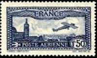 "FRANCE TIMBRE STAMP AVION N° 6 "" AVION SURVOLANT MARSEILLE "" NEUF X TB"