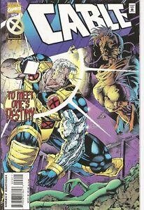 °CABLE #23 FAMILY SECRETS° US Marvel 1995 Jeph Loeb Cable & Domino & Xavier