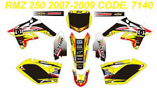 7140 SUZUKI RMZ 250 2007-2009 Autocollants Déco Graphic Sticker Decal Kit