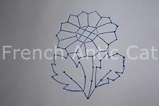 Ancien grand tampon scolaire bois plastique fleur marguerite 10,5*7 cm AA156