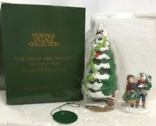 Dept 56 Dickens Christmas Tree Village The Holly And The Ivy (Set of 2) #56100