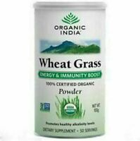 Organic India Wheat Grass Powder 100 gm Super food//100% original//sealed packin
