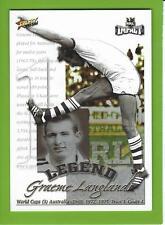 2001SELECT NRL IMPACT SERIES-LC1-GRAHAM LANGLANDS LEGEND CARD-ST GEORGE