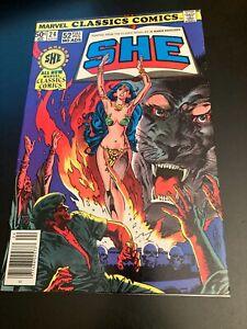 "High Grade! MARVEL CLASSICS COMICS #24 (1977) ""She"" (50¢ Giant) VF/VF+"
