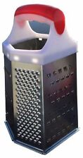 Stainless  6 Sided Grater Cheese Potatoes Carrots Fruits Medium Coarse STL