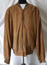 Men's Leather Bomber Jacket Coat LG Quality Saks Fifth Avenue Super Soft USA