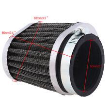 Motorcycle 50mm Air Intake Filter Cleaner Engine Inlet For Kawsaki Suzuki Honda