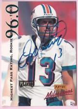 DAN MARINO 1998 PLAYOFF ABSOLUTE MILESTONES AUTOGRAPH #10 ON-CARD AUTO DOLPHINS