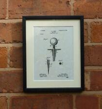 "USA Patent Drawing Vintage GOLF TEE ball Mounted Matted PRINT 10"" x 8"" 1899 Gift"