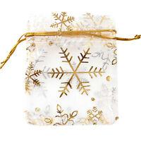 250x Wholesale Snowflaker Organza Wedding Pouch Favor Gift Bag Lots 7x9cm 120059