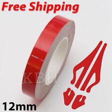 "12mm x 9.8m Pinstripe Single Pin Stripe Tape Decal Vinyl Sticker Car 1/2"" Red"