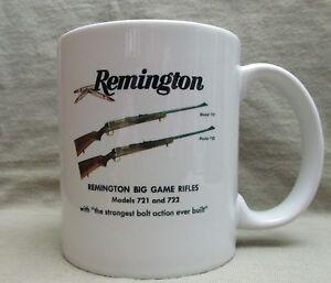 Classic Remington Model 721 & 722 Coffee Cup, Mug - New - Cool Vintage Look