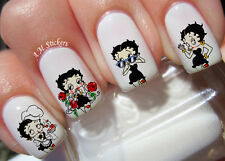 Betty Boop Nail Art Stickers Transfers Decals Set of 36