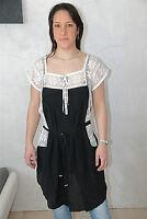 robe tunique soie dentelles HIGH USE taille 38 fr 42i  NEUVE ÉTIQUETTE val. 450€