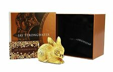 "Jay Strongwater Large 3,75"" Composition Bunny Claire Brand New 18K Gold Plated"