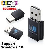 300M Wireless USB WiFi Adapter Dongle Network LAN Card 802.11n/g/b For Window 7