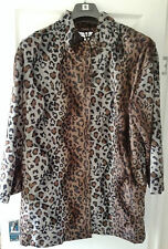 AND ABIGAIL BROWN & GREY SHADES LEOPARD PRINT FLEECE JACKET