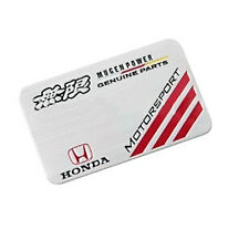 Mugen Honda Alluminio emblem badge sticker adesivo 80mm x 52mm CIVIC ACCORD s2000