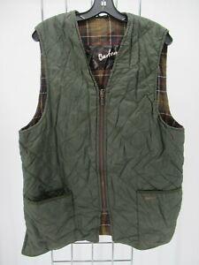 I7053 VTG Barbour Full Zip Quilted Waist Coat Vest