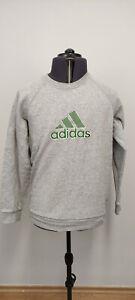 Adidas 2006 Mens Sweatshirt Jumper Pullover Crew Neck Big Logo Grey Cotton M