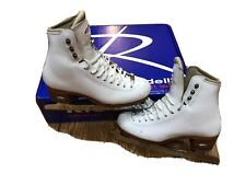 Riedell Bronze Figure Ice Skates With Pattern 99 Blades And Hard Guards