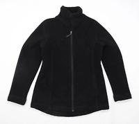 Preworn Womens Size M Fleece Blend Black Midweight Jacket