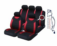 9 PCE Sports Carnaby Red/ Black Full Set of CAR Seat Covers Skoda Fabia Octavia