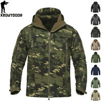 Waterproof Mens Tactical Jacket Soft Shell Coat Army Military Jacket Windbreaker