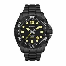 Bulova Men's 50mm Black Steel Bracelet & Case Quartz Analog Watch 98B242