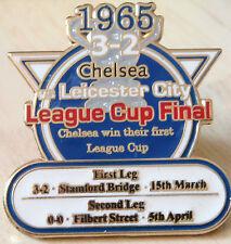 CHELSEA v LEICESTER CITY 1965 Victory Pins LEAGUE CUP FINAL Badge Danbury Mint