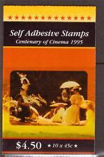 AUSTRALIA, 1995 CENTENARY OF CINIMA, BOOKLET, SG SB 90, , MNH COMPLETE