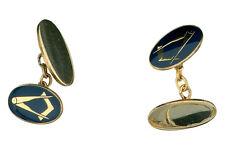 Masonic Cufflinks Solid Yellow Gold Hallmarked handmade