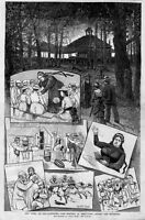 NEW YORK OLD FASHIONED 1882 CAMP MEETING AT NEELYTOWN, RACING HORSES, RELIGION