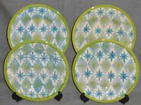 Set (4) Pottery Barn ALLEGRA PATTERN Salad Plates
